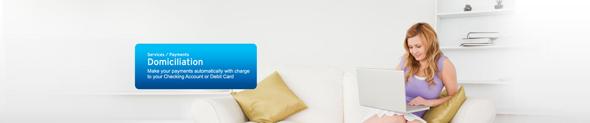 Make your payment automatically with charge to your checking account