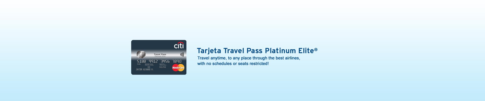 Use your travel pass card and travel whenever you want